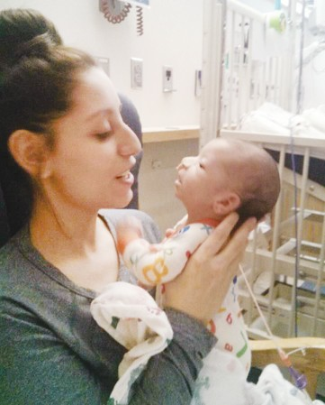 Lindsey Nagel holds her son, Rico. -- Photo provided