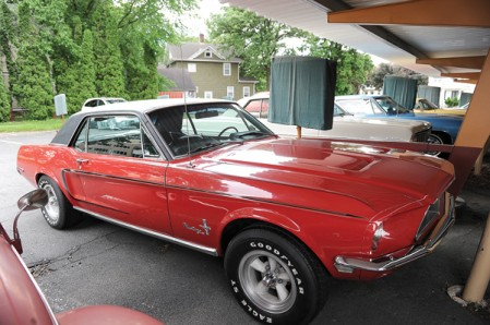 Another Mustang, this one a 1968, is another example of the cars that will be auctioned off.