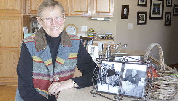 Mary Hokanson is speaking about about the benefits of hospice care after her husband, Jim (in pictures), died this year. -- Trey Mewes/trey.mewes@austindailyherald.com