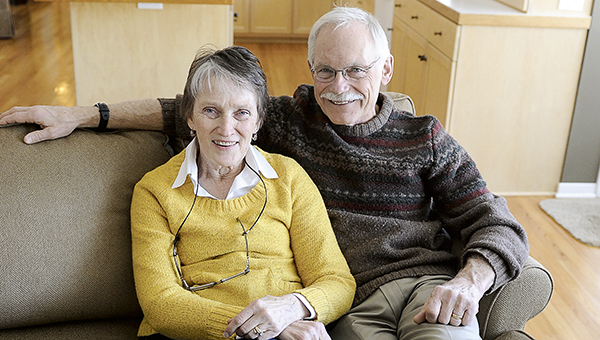 Dr. Dick Schindler with his wife, Belita. -- Herald file photo
