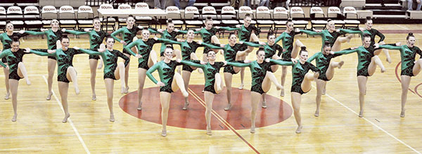 The Austin Packer dance team competes in its fourth competition of the season Saturday, the Lakeville South Dance Invitational. Photos provided by Tara Krumm