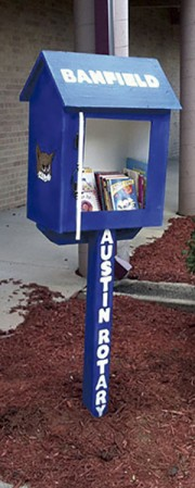 One of the Little Free Libraries located at Banfield Elementary School. Photo provided