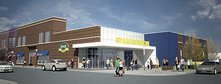 SPAM Museum Groundbreaking Exterior Rendering. -- Photo provided by RSP Architects