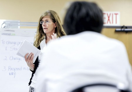 Centers for Disease Control and Prevention coordinator Jill Wagner is the program coordinator for the YMCA's program to help prevent type 2 diabetes.  Eric Johnson/photodesk@austindailyherald.com