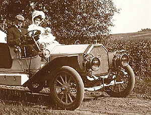 Ben Hormel and family pictured in his car.  Photo provided
