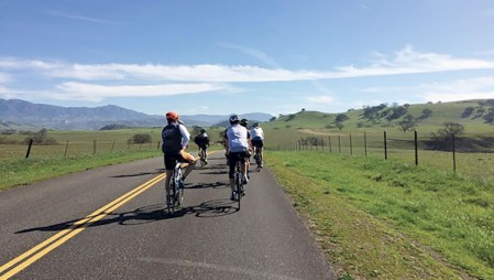 Riders on a Trek Travel training ride.  Photo by Grace Heimsness