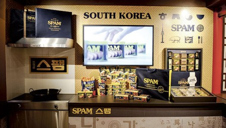 South Korea is part of the World Market, new to the Spam Museum's new location.