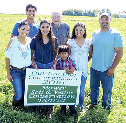 The Cotters has been recognized as Outstanding Conversationalist 2016 by the Mower Soil & Water Conservation District. -- Photo provided