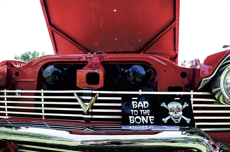 Eugene Brockton's 1958 Plymouth is Bad to the Bone.