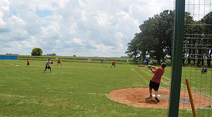 The Meyer farm has hosted baseball and softball games since the 1930s. Rocky Hulne/sports@austindailyherald.com