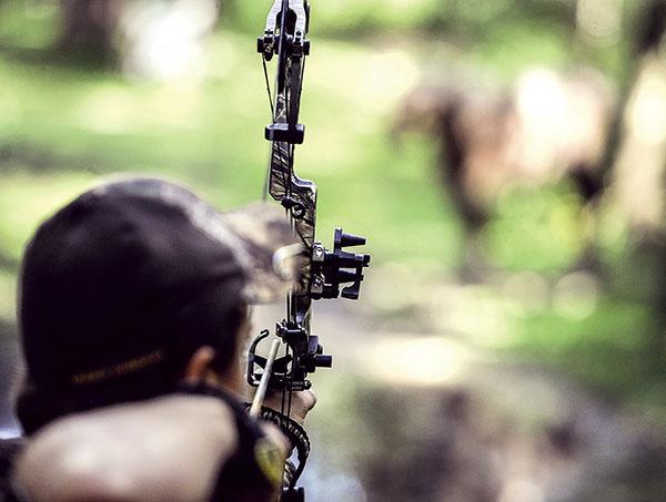 Jake VandeZande targets a 3D target during the Cedar River Archery Club's final shoot of the season last Saturday. Eric Johnson/photdesk@austindailyherald.com